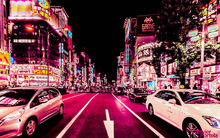 Ngắm nhìn một Nhật Bản ngập tràn sắc hồng thơ mộng khi đêm về