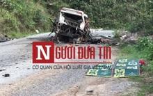Cận cảnh vụ nổ xe khách 9/12 người tử vong tại chỗ