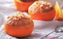 Hay hay cách làm cupcake vị cam ăn luôn trong vỏ