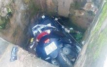 Đại úy công an tử nạn khi lao xe máy xuống cống