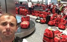 Thử thách cuối của các VĐV Olympic Anh: Tìm vali của mình trong 'một rừng' vali giống hệt nhau ở sân bay