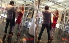 Cãi nhau đòi chia tay, cô gái lột nội y giữa ga tàu điện ngầm bắt bạn trai mặc