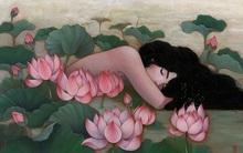 Bộ tranh những cô gái e ấp bên hoa cỏ đẹp dịu dàng khiến ta ngỡ là tiên nữ đời thực