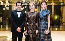 Thuý Vân gặp gỡ huyền thoại bóng đá Luis Figo trong dạ tiệc quý tộc nhất thế giới