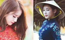 Mê mẩn với vẻ đẹp của 2 mỹ nhân T-ara trong tà áo dài Việt Nam