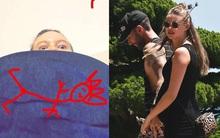 Bà xã Adam Levine: Bụng bầu tôi to đến mức không thấy ngón chân nữa rồi!