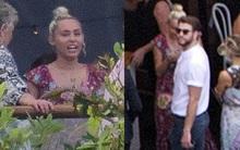 Miley Cyrus diện đầm dài nữ tính dự đám cưới bạn cùng Liam Hemsworth