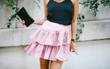 Biến tấu váy bút chì thành váy xòe dịu dàng