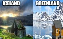 Đố bạn biết: Vì sao Greenland thì toàn băng, trong khi Iceland phủ xanh cây cỏ?