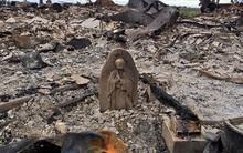 Trận hỏa hoạn do siêu bão Harvey thiêu 3 căn nhà thành tro, nhưng bức tượng Đức Mẹ vẫn đứng hiên ngang