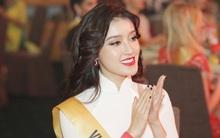 """Á hậu Huyền My diện áo dài trắng đọ sắc cùng dàn người đẹp """"Miss Grand International"""