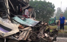 Tai nạn nghiêm trọng, tài xế thoát chết trong gang tấc trên đường cao tốc Hà Nội - Thái Nguyên