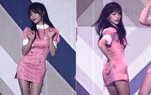 Thành viên AOA bị nghi độn hông lên sân khấu biểu diễn