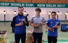 Hoàng Xuân Vinh giành Huy chương bạc bắn súng thế giới