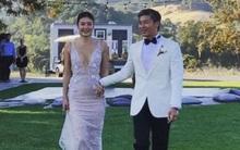 Hình ảnh hiếm hoi trong đám cưới giữa vợ cũ gốc Việt của tài tử Lê Minh và đại gia tại Mỹ
