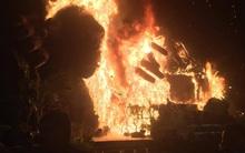 """Sân khấu với bức tượng bị cháy trong buổi ra mắt phim """"Kong: Skull Island"""" trị giá 1,1 tỷ đồng"""