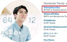 Từ khóa mừng sinh nhật Sehun (EXO) đứng đầu bảng xu hướng thịnh hành toàn thế giới trên Twitter