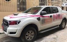 Vào facebook, chủ ô tô bất ngờ phát hiện xe mình đang đỗ trong ngõ bị vẽ sơn hồng chi chít