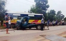 Hòa Bình: Xe tải bẹp dúm sau khi đấu đầu với xe bus, tài xế tử vong tại chỗ