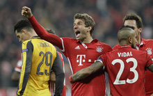 Bayern sỉ nhục Arsenal bằng chiến thắng huỷ diệt ở Champions League