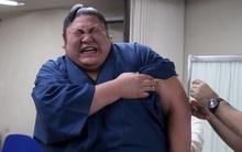 Chết cười với những lực sĩ sumo to như voi nhưng lại khóc lóc, mếu máo khi đi tiêm phòng