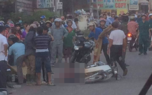 Xe tải tông 4 xe máy, người phụ nữ mang thai và bé gái lớp 3 tử vong