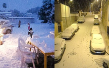 Chùm ảnh: Tuyết rơi dày nhất trong 35 năm tại Tây Ban Nha, nhiệt độ xuống còn -10 độ C