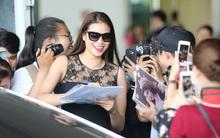 Phạm Hương rạng rỡ trở về từ Nhật Bản, nán lại ký tặng fan hâm mộ giữa sân bay