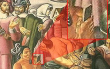 Bằng chứng mới về xuyên không? Người thổ dân cầm iPhone trong bức tranh vẽ từ 100 năm trước