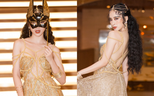 Angela Phương Trinh mang mặt nạ, khoe lưng trần và vòng một lấp ló tại sự kiện