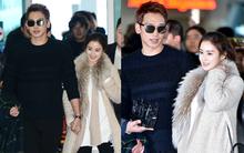 Clip: Kim Tae Hee và Bi Rain nắm chặt tay, cười rạng rỡ xuất hiện lần đầu sau đám cưới