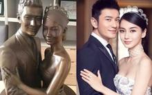 Huỳnh Hiểu Minh yêu vợ đến mức đặt tượng bà xã Angela Baby trong phòng làm việc