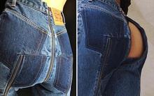 Những lợi ích không tưởng khi mặc quần jeans có phéc-mơ-tuya ở mông