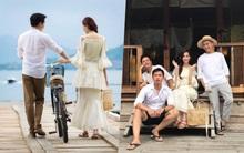 Hé lộ hậu trường chụp ảnh cưới hiếm hoi của Hoa hậu Đặng Thu Thảo và hôn phu Trung Tín