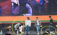 EXO gục trên sân khấu giữa màn trình diễn vì quá mất sức