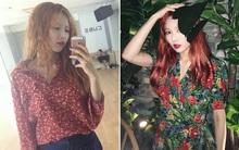 Mặc thiếu vải lên sân khấu và truyền hình nhưng ngoài đời, HyunA lại toàn diện đồ retro hiền lành dễ mến