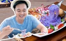 Cận cảnh món miến trộn màu tím của Thái khiến Quang Vinh vô cùng thích thú