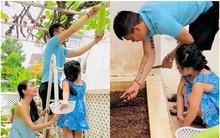 Khoe ảnh gia đình, Thủy Tiên hé lộ một phần góc mặt của con gái Bánh Gạo mới 4 tuổi mà đã lớn phổng phao