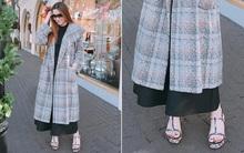 """Trên khoác áo đông dưới lại đồ hè, thời trang kiểu """"mới"""" của Hà Hồ nên khen hay chê?"""