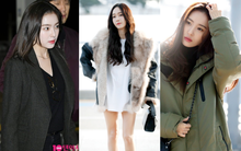 Jessica trở lại thời kỳ đỉnh cao nhan sắc nhưng lại lộ chân tong teo, Sunmi cùng dàn sao Hàn đổ bộ sân bay