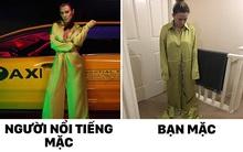 Hí hửng mua áo liền quần giống hot girl trên mạng, cô gái chán hẳn khi mặc vào thì trông như công nhân