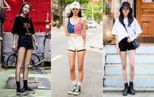 Cùng trưng dụng quần shorts nhưng giới trẻ Hàn lại có cả tá cách mix hút mắt thôi rồi