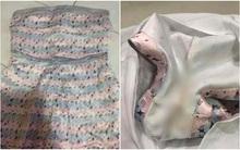 Tưởng đặt được bộ jumpsuit sang xịn về mặc, ai dè nhận được bộ đồ đã cũ lại còn bẩn kinh hoàng