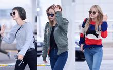 Hani khoe dáng đẹp, EXID nhí nhảnh hết cỡ tại sân bay Hàn sang Việt Nam