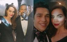 Hồ Ngọc Hà khoe ảnh chụp cùng Jamie Foxx và Austin Mahone khi dự tiệc VIP tại Milan