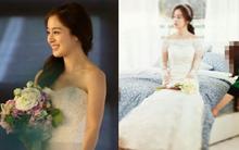 Trước ngày lên xe hoa, netizen truyền tay loạt ảnh Kim Tae Hee mặc váy cưới đẹp như nữ thần