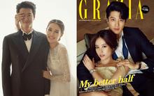 """Mặc chỉ trích, """"con ghẻ quốc dân"""" Lee Dong Gun và Jo Yoon Hee vẫn khoe ảnh cưới tình tứ trên tạp chí"""
