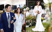 """Đám cưới nữ diễn viên """"Vườn sao băng"""": Cô dâu chú rể đẹp như minh tinh trong đám cưới thần thánh"""