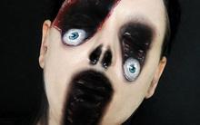 Nữ nghệ sĩ trổ tài hóa trang kinh dị thành xác sống
