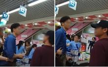 """""""Soái ca"""" vừa nhai kẹo vừa cư xử lỗ mãng với người đàn ông lớn tuổi khi đứng xếp hàng tại siêu thị ở Sài Gòn"""